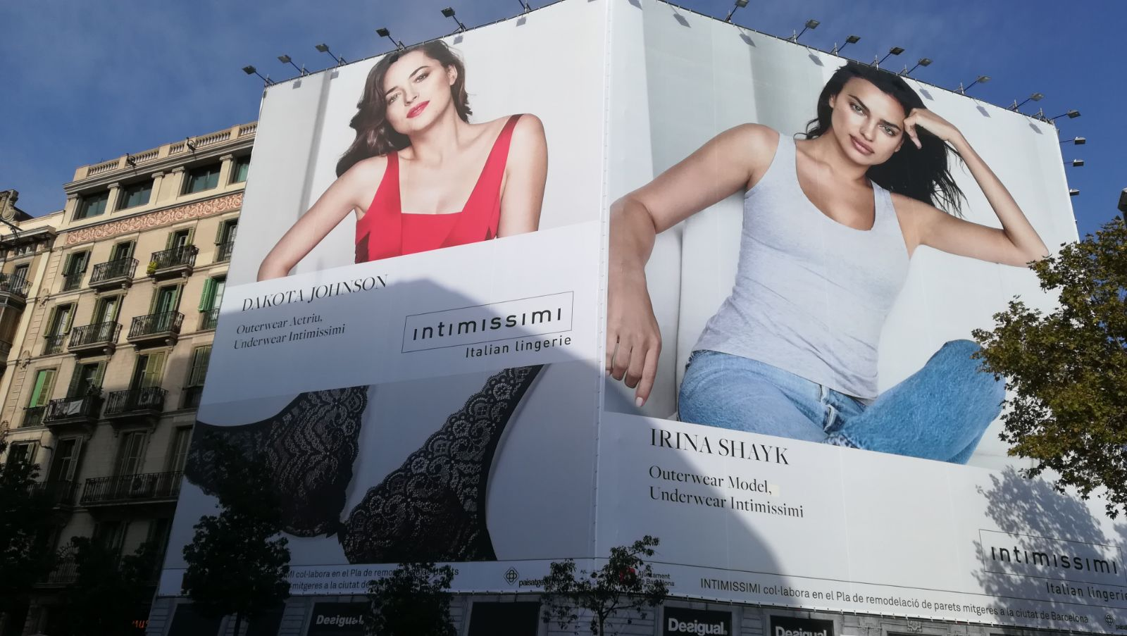 Image result for Irina Shayk Intimissimi billboard