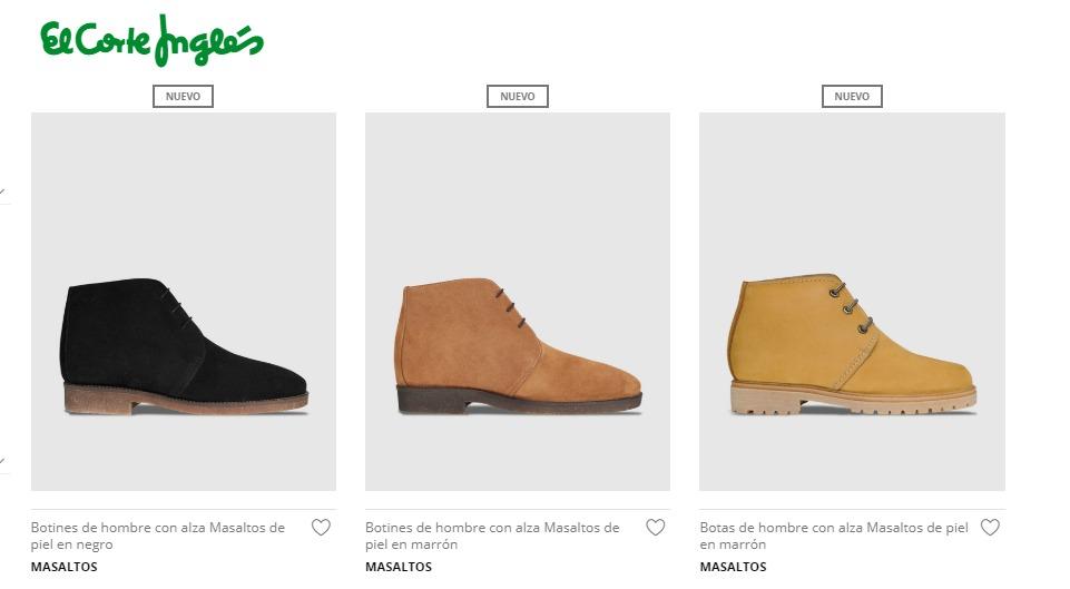 616c69455 Masaltos.com se une a El Corte Inglés para vender calzado a través ...